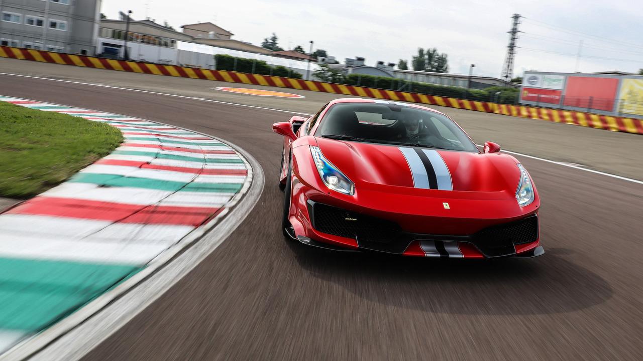 2018 Ferrari 488 Pista at Fiorano proving grounds