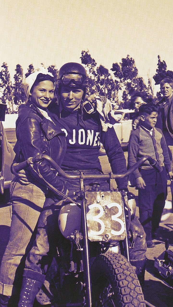 <strong>Patricia and Bill Brownell at the track. It was a more simple time back then: Fast bikes, no rules and beautiful woman by your side. Lucky dog.</strong>