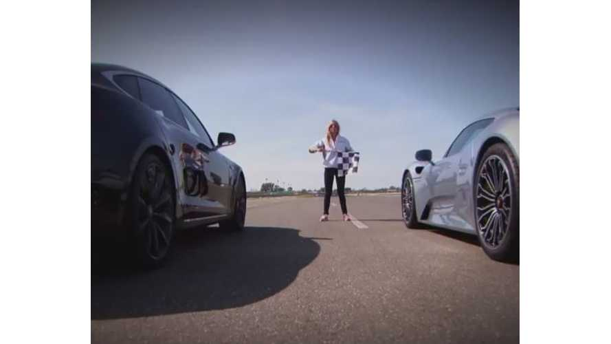 Tesla Model S P85D Meets Its Match In Porsche 918 Spyder - Drag Race Video