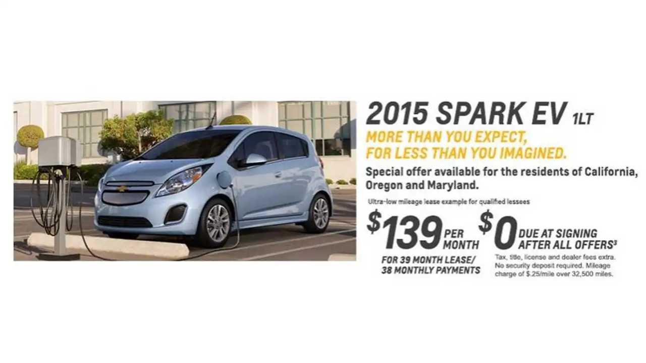 In April, Chevrolet Leased 865 Spark EVs, Sold Just 55