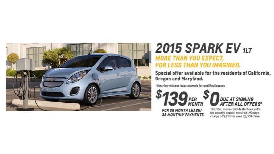 In April, Chevrolet Leased 865 Spark EVs, Sold Just 55