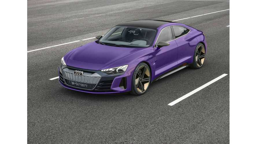 Audi e-Tron GT Rendered In New Colors, Including Purple