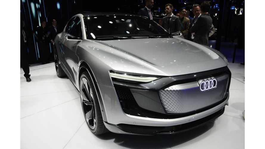 Audi e-tron Sportback Concept, Production Set For 2019 - Live Photos, Videos