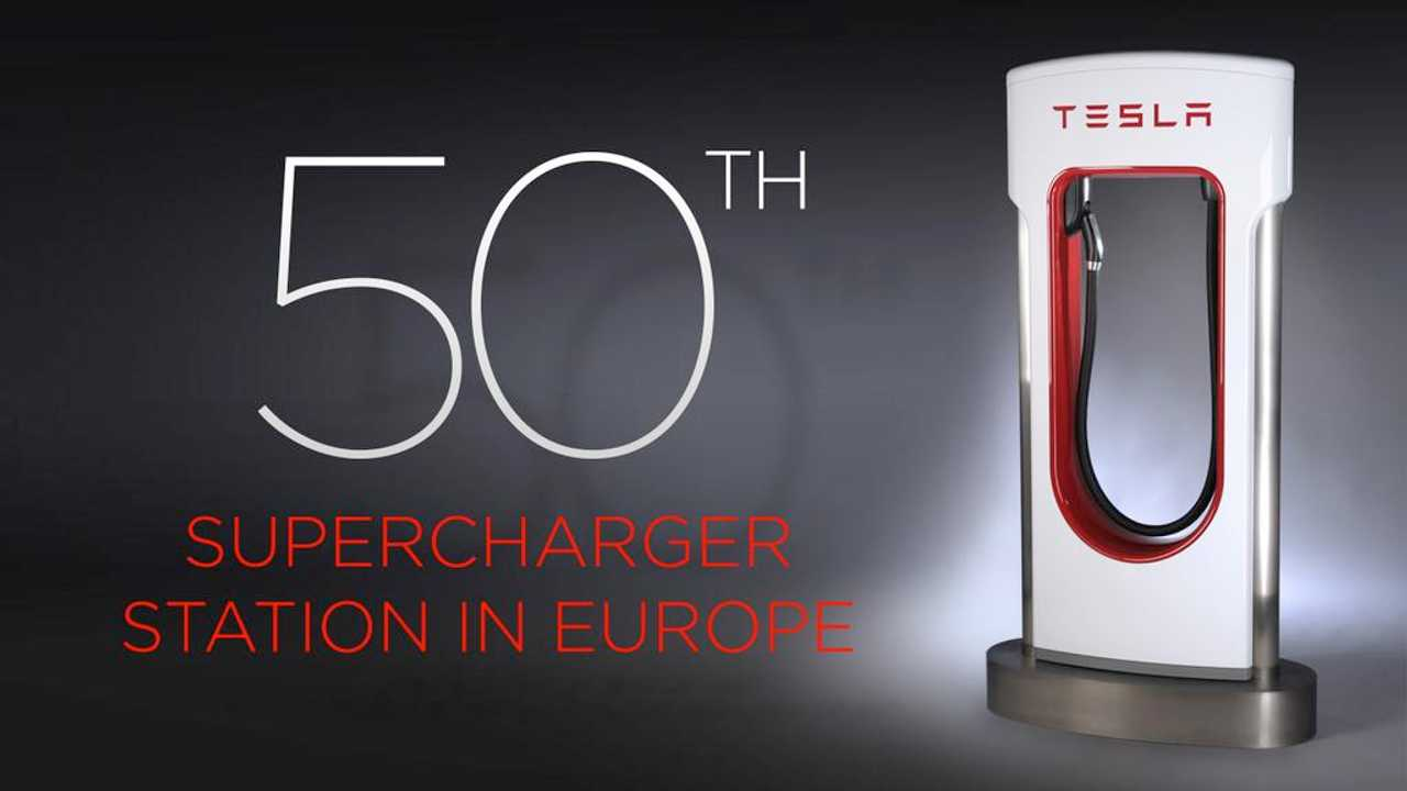 Tesla Announces Opening Of 50th Supercharger In Europe