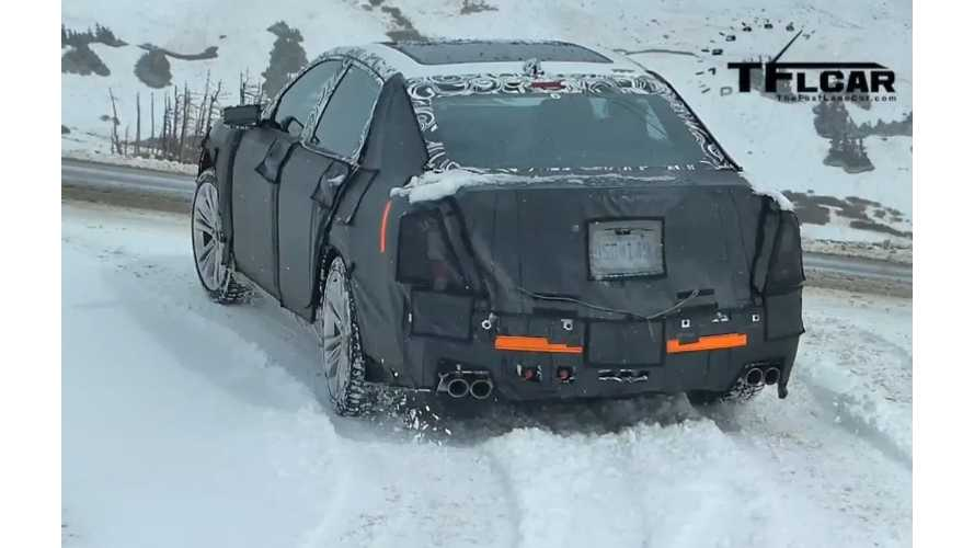 TFL Catches The Cadillac CT6 (Available With Plug) In The Wild, 2nd Gen Volt Mule Too - Video