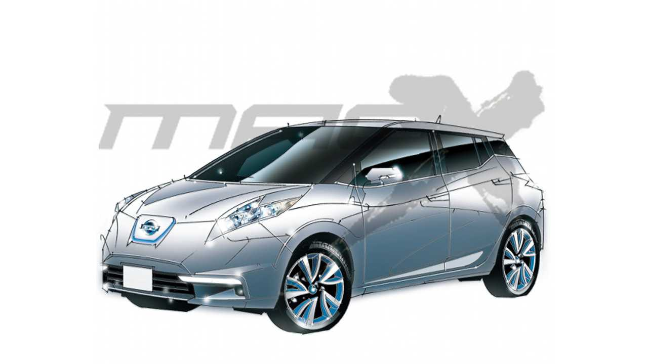 Unofficial Next-Generation Nissan LEAF Sketch