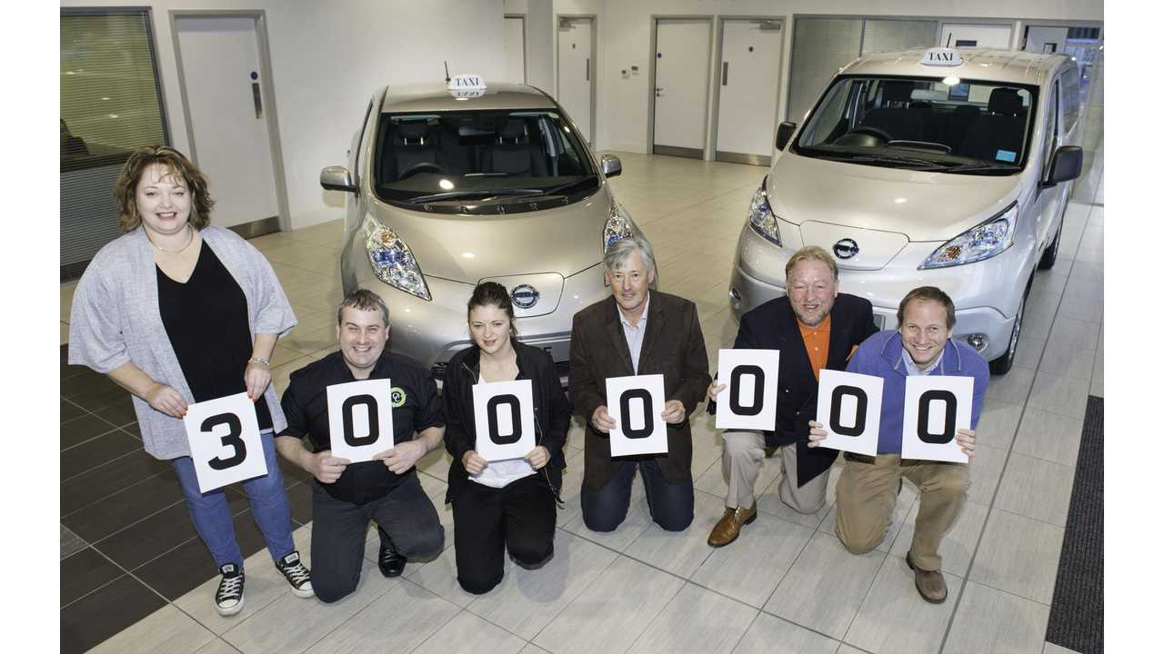 Nissan's Electric Taxis Surpass Three Million Mile Mark In UK