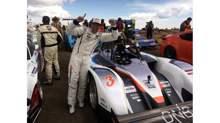 Rhys Millen's eO PP03 at Pikes Peak International Hill Climb - Full Video