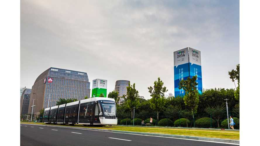 Bombardier Tram Sets Electric Range Record
