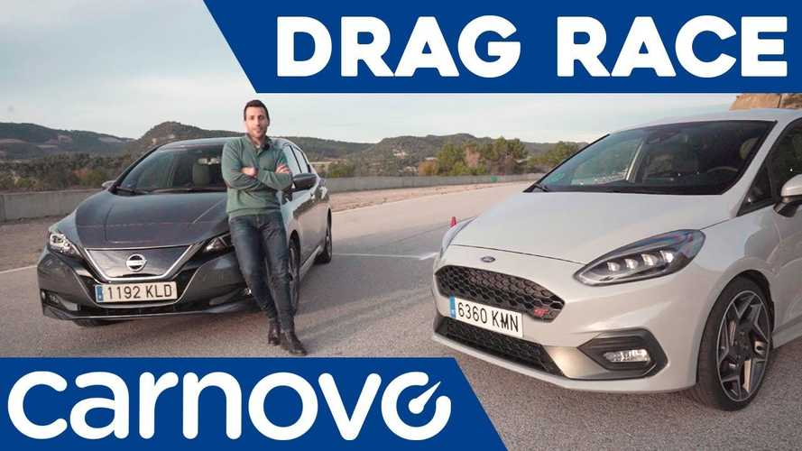 Nissan LEAF Takes On Ford Fiesta ST At The Drag Strip: Video