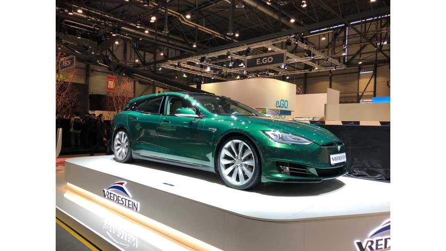 Tesla Model S Shooting Brake Shows Up In Geneva