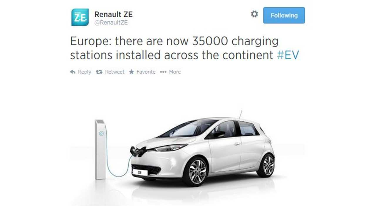 Europe Now Home To Over 35,000 Charging Stations
