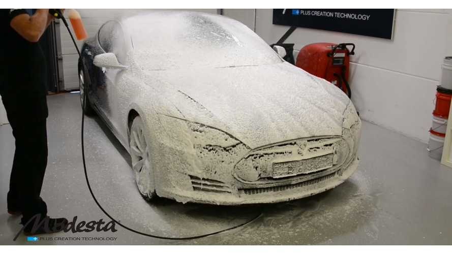 Tesla Model S Paint Correction And Titanium Glass Coating - Video