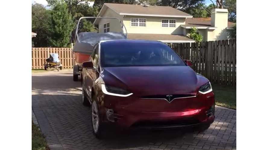 Tesla Model X Tows Boat - Videos