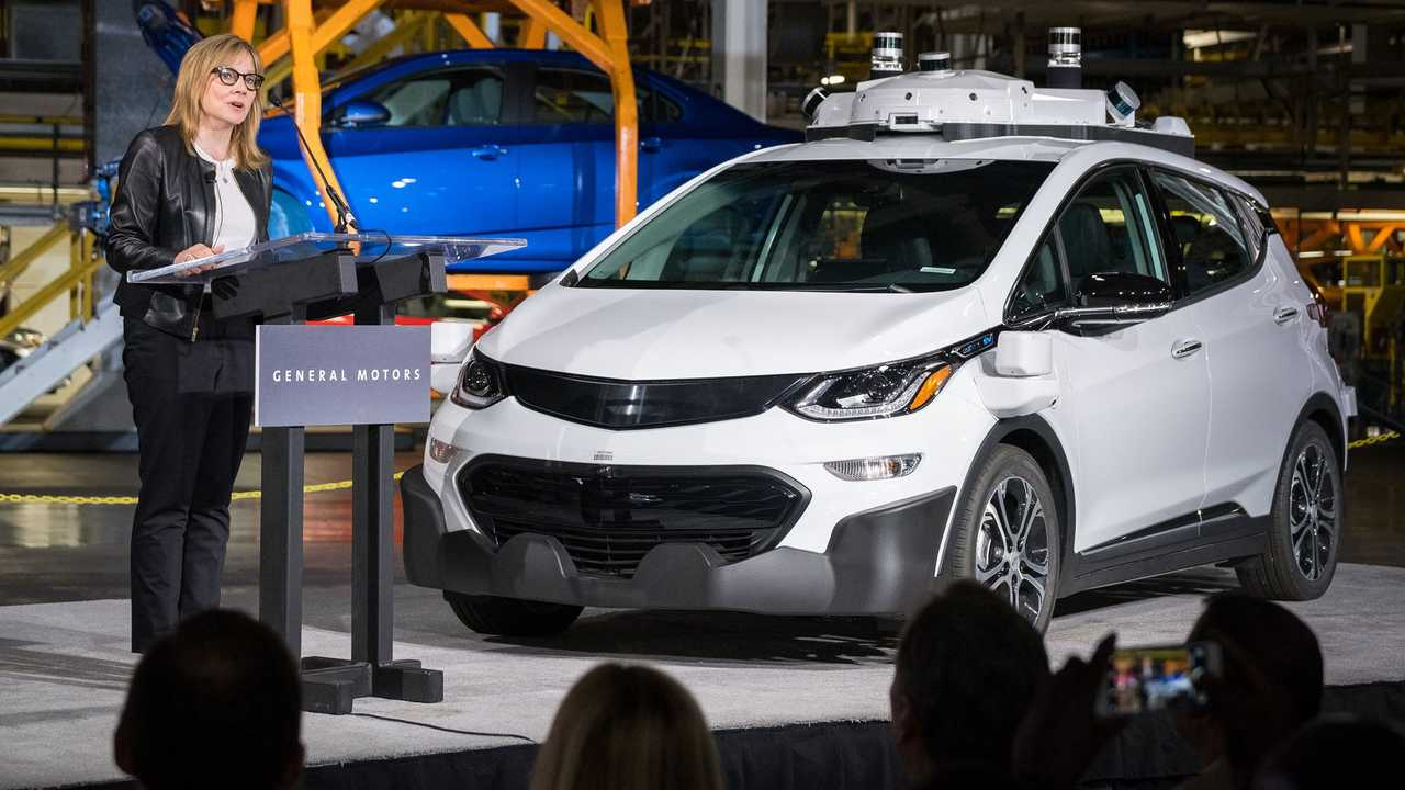 In 2017, GM CEO Mary Barra announced that the Chevrolet Bolt is the company's test vehicle for self-driving.