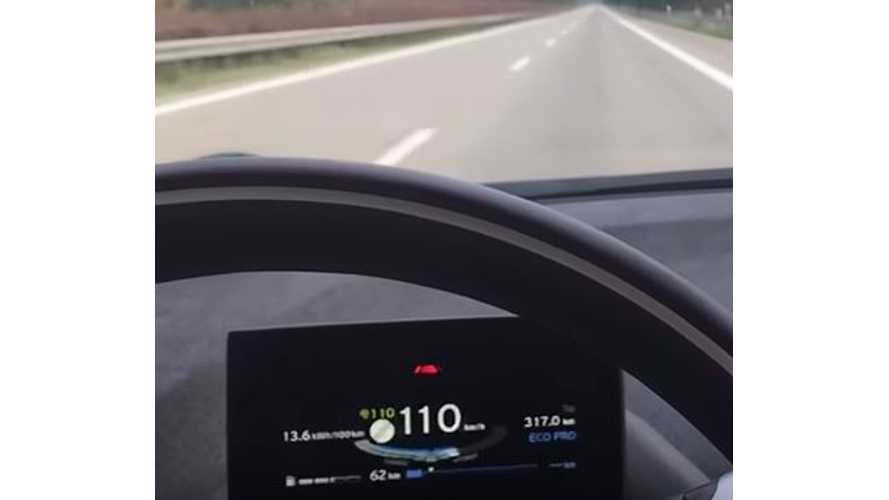 BMW i3 REx Top Speed With Depleted Battery - Video