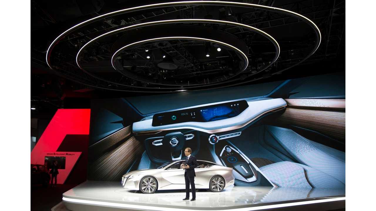 DETROIT (Jan. 9, 2016 – Nissan reveals the Vmotion 2.0, a new concept vehicle that signals the company's future sedan design direction and Intelligent Mobility technology.