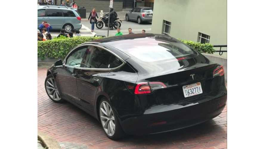 Pair Of Tesla Model 3s Spotted On Lombard Street