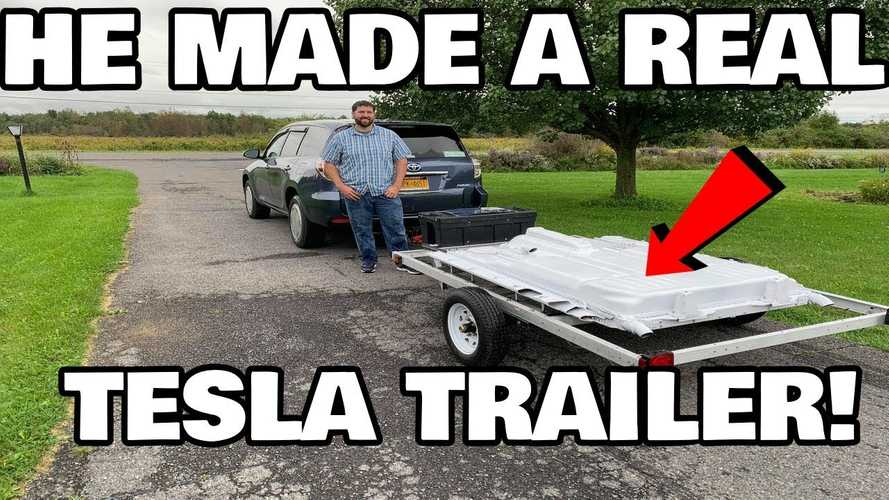 See This Range-Extending Toyota-Tesla Trailer In Action