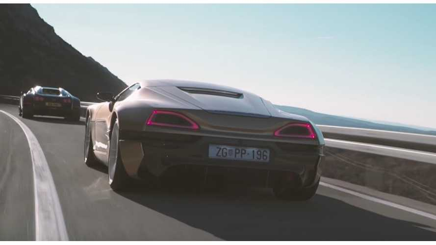 Rimac Concept_One vs Bugatti Veyron – Croatia Coast Road Duel! (video)