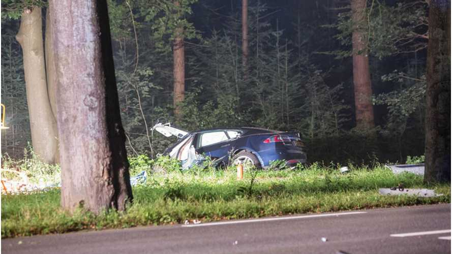 Tesla Begins Investigation Of Fatal Model S Crash In The Netherlands - Car Was Going 96 MPH