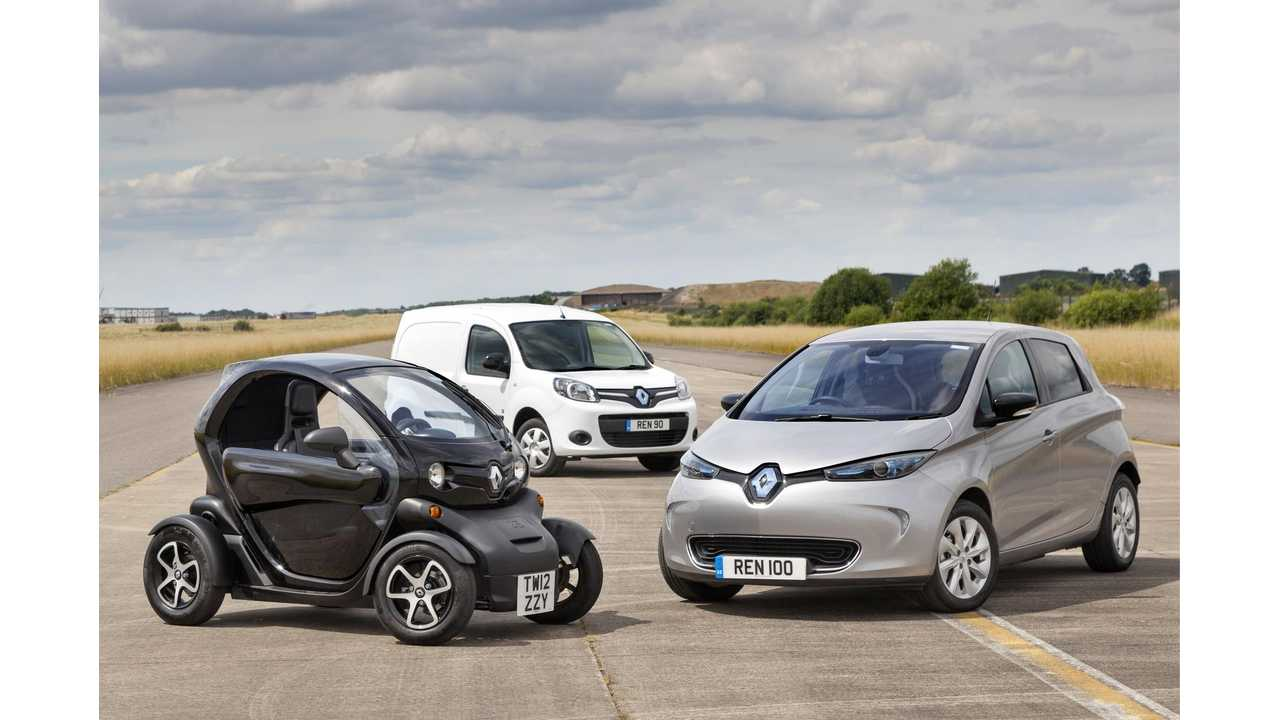Renault Electric Car Sales Rise (Again) In August By 43%