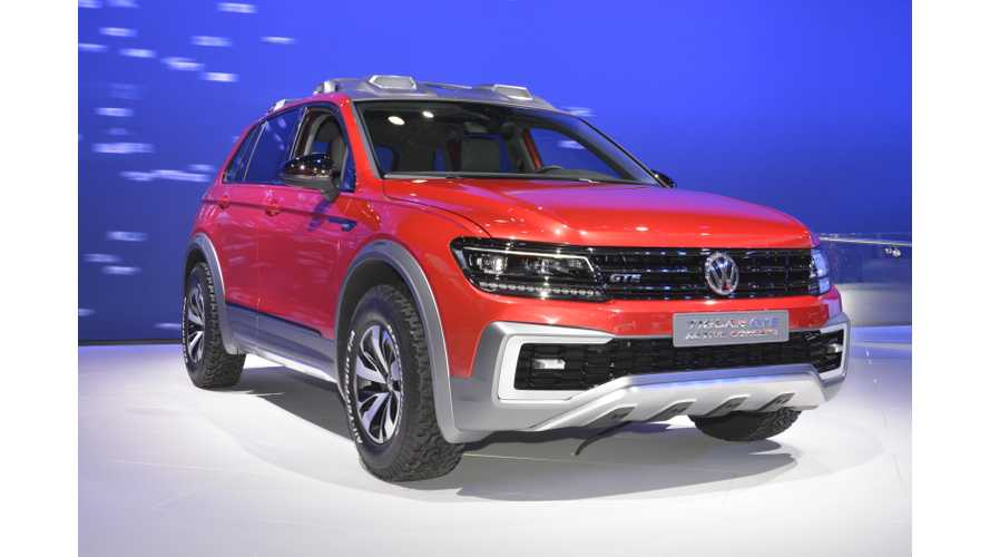 Volkswagen Tiguan GTE Active Concept Debuts In US: 20 Miles All-Electric Range