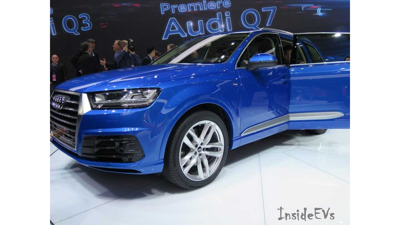 Just imagine This normal ICE Q7 Had A Charging Port And Half A Dozen Pretentious Plug-In Badges On It ... And You Pretty Much Have The Q7 e-Tron Quattro