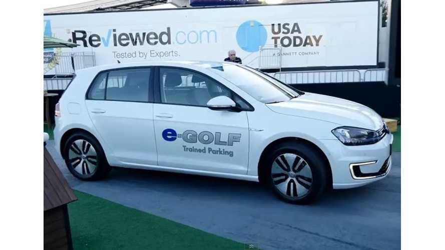 Volkswagen e-Golf Trained Parking - Video