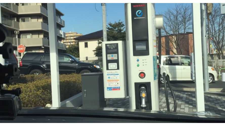 Real-Time Video (seriously) Of Nissan LEAF Quick Charging During Winter