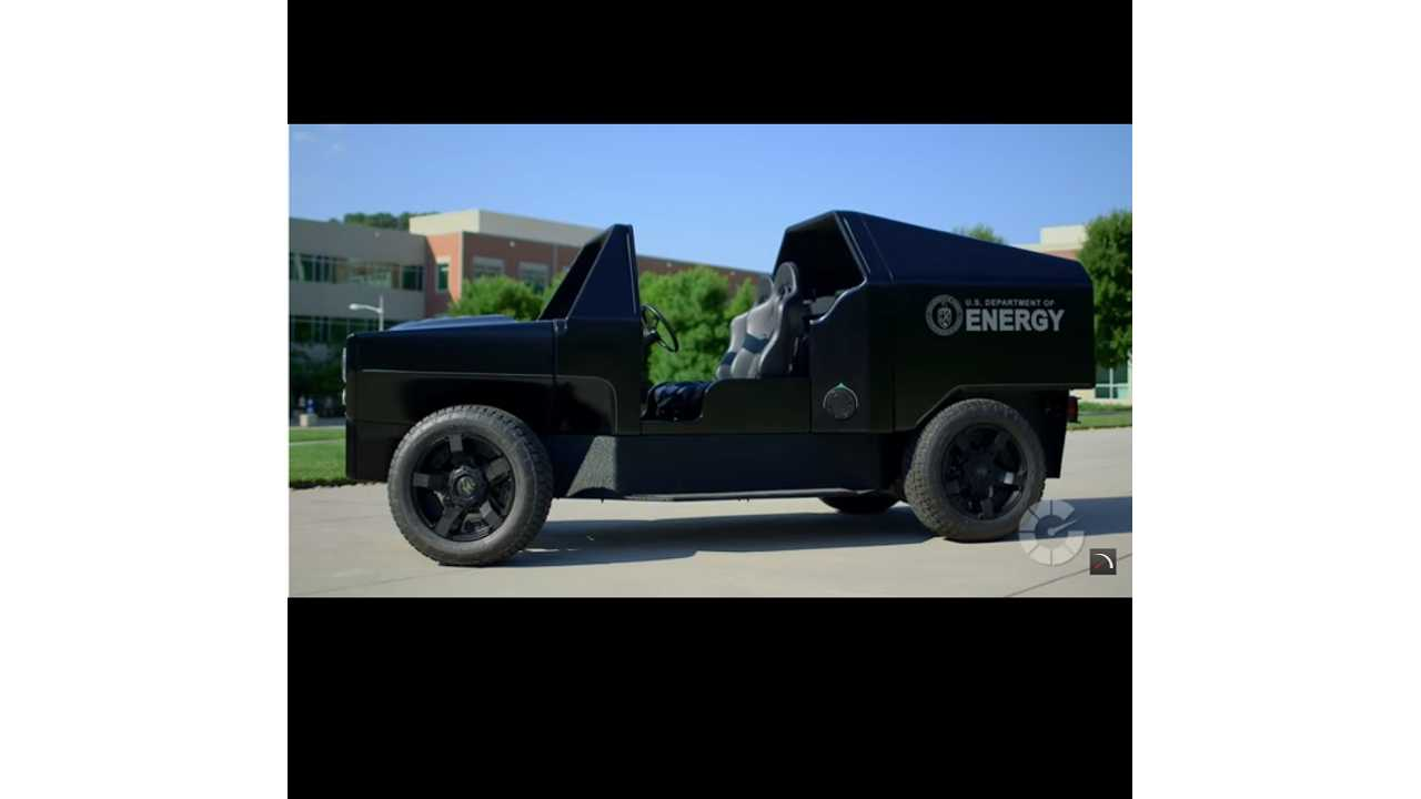 Pretty Neat Plug-In Utility Vehicle 3D Printed By DoE (Translogic Video)