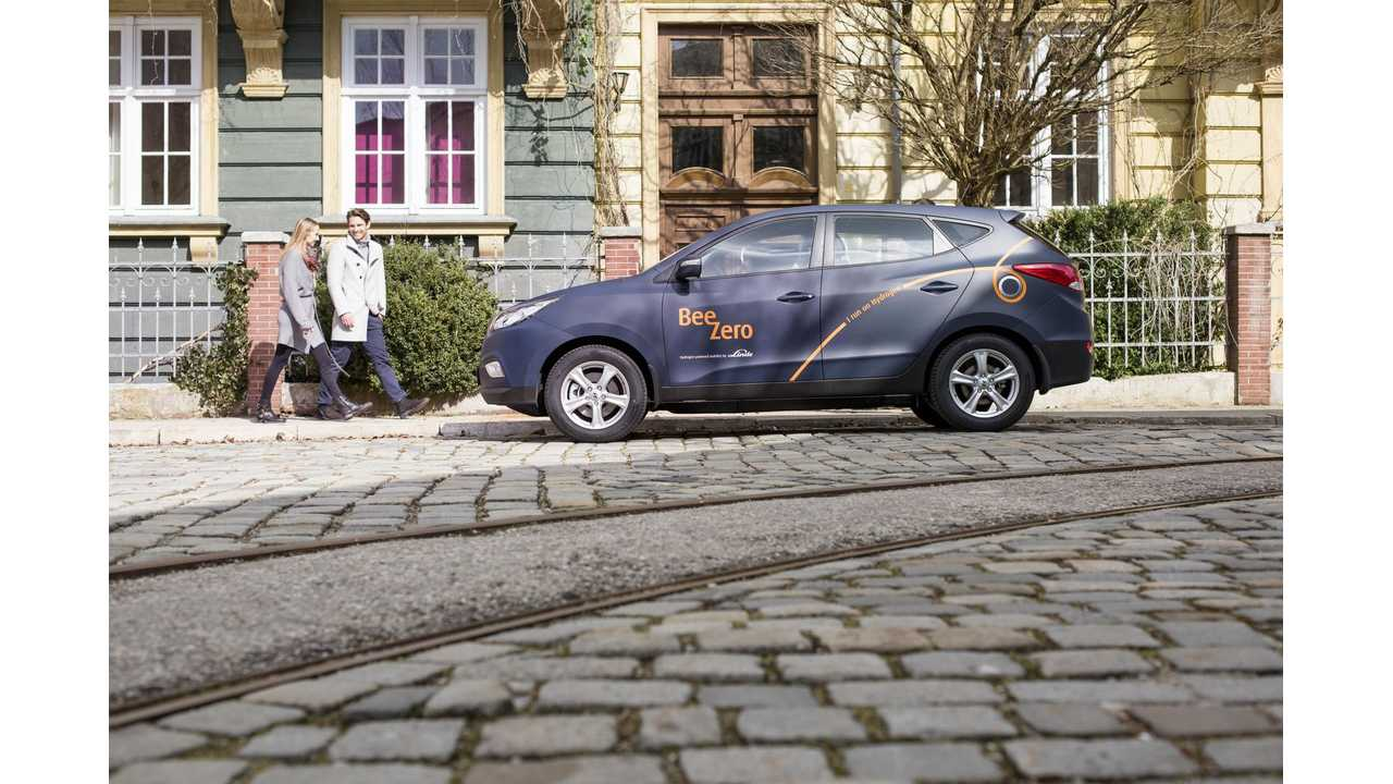 World's First Fuel Cell Car Sharing Service With Hyundai ix35 Fuel Cell