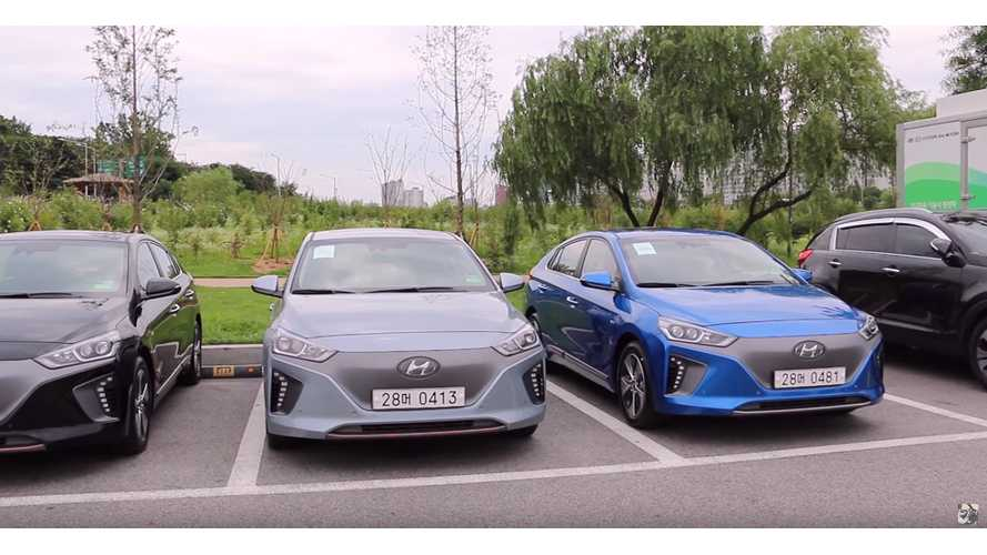 First Look At The Hyundai IONIQ Electric In South Korea - Videos