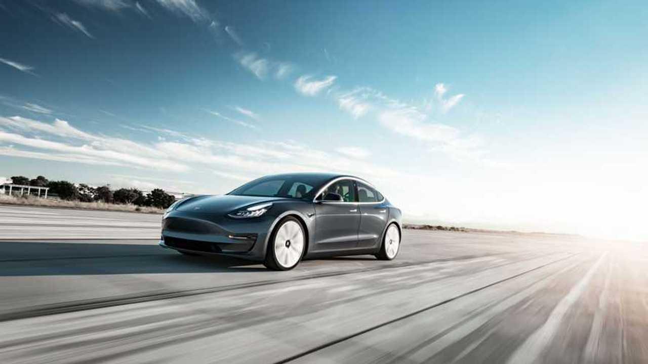 Tesla Model 3 Performance - Midnight Silver Tarmac Motion (wallpaper 2,560x – click to enlarge)