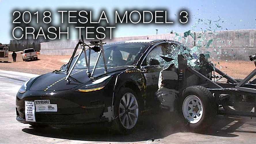Watch These NHTSA Tesla Model 3 Crash Test Videos