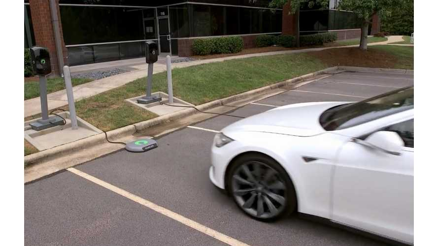 Tesla Model S Now With Wireless Charging - Video