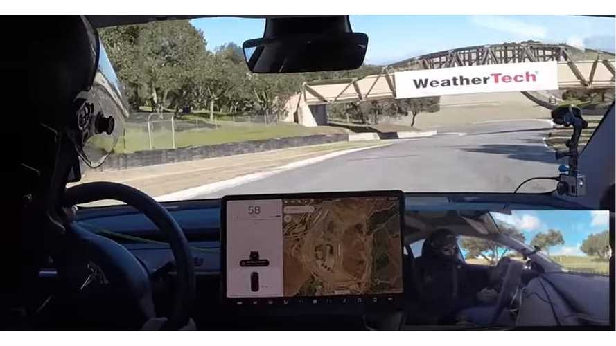 Watch Tesla Model 3 Put Through The Paces At Laguna Seca