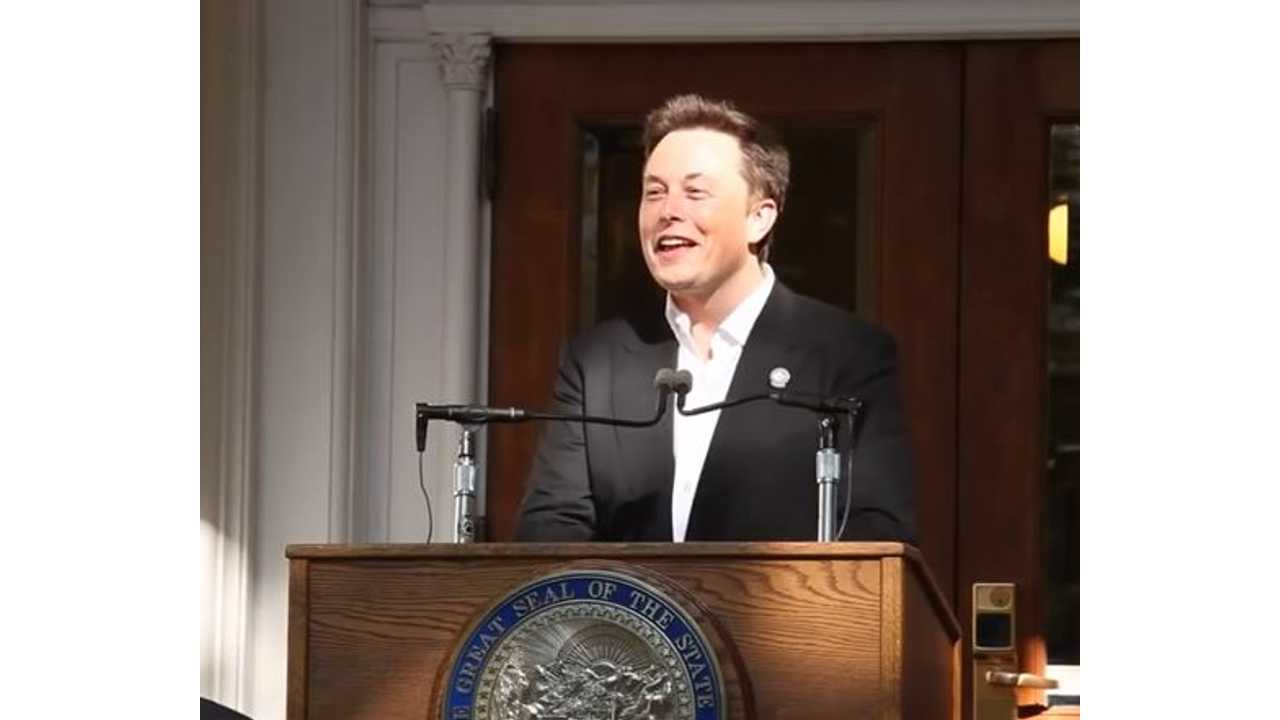 Elon Musk Takes To The Podium In Nevada