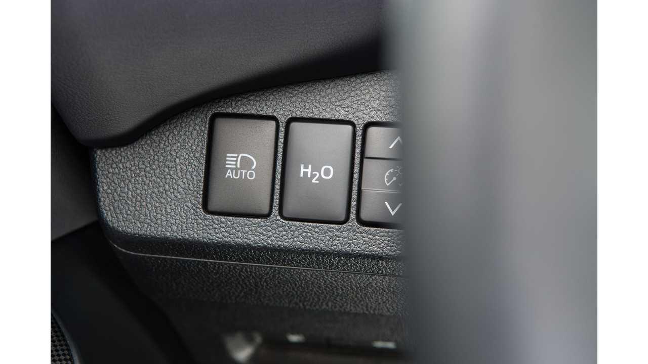 Toyota Mirai H2O button