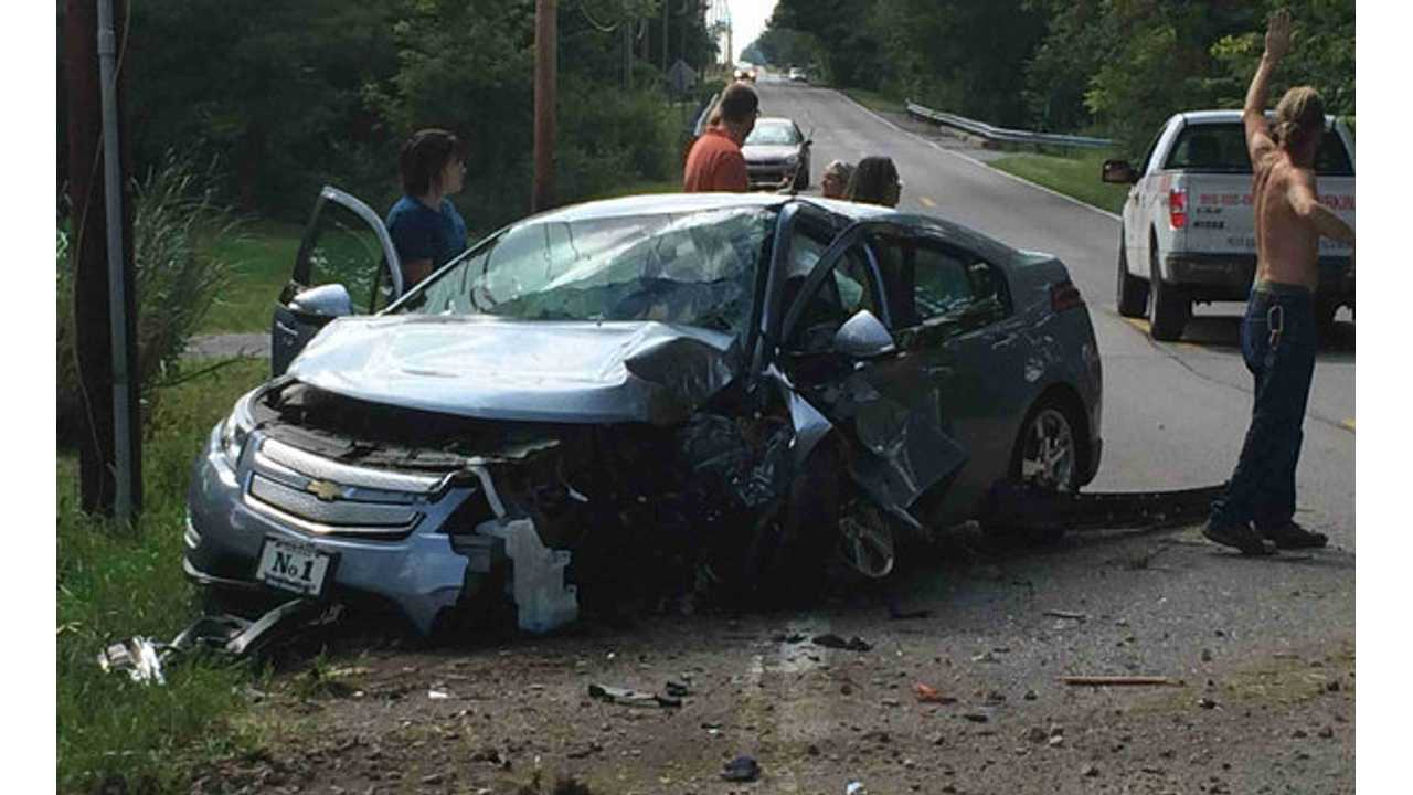 Despite Other Serious Accidents (like this recent Indiana collision), No Chevy Volt Has Ever Had A Lithium Battery Pack Fire-Related Incident On Public Roads