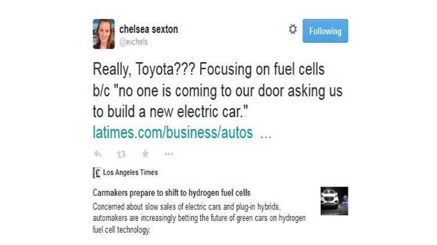 """Toyota: """"No One Is Coming To Our Door Asking Us To Build A New Electric Car"""""""
