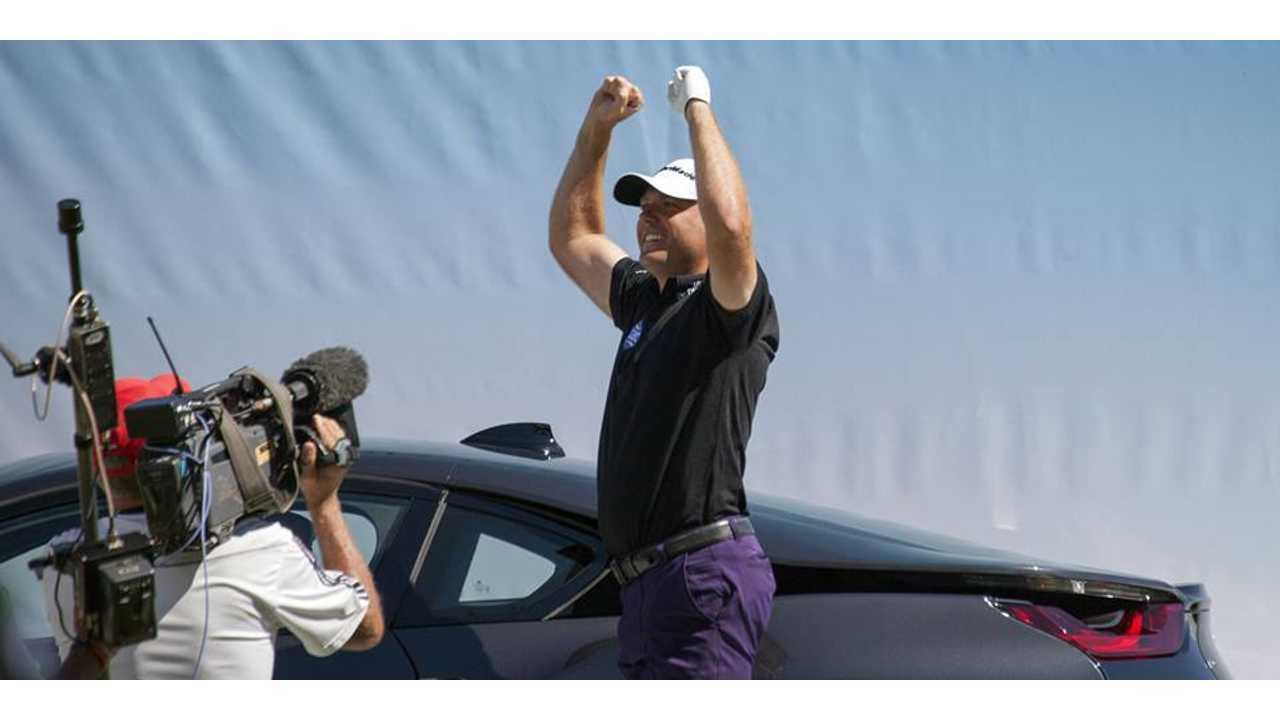 Golfer Graeme Storms Wins BMW i8 At European Masters (w/video)