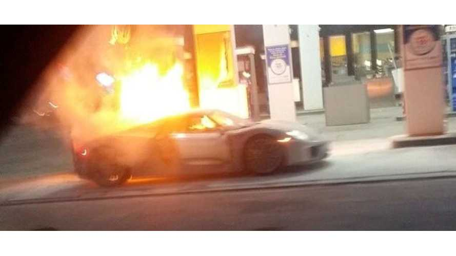 Porsche 918 Spyder Goes Up In Flames (Images + Video)