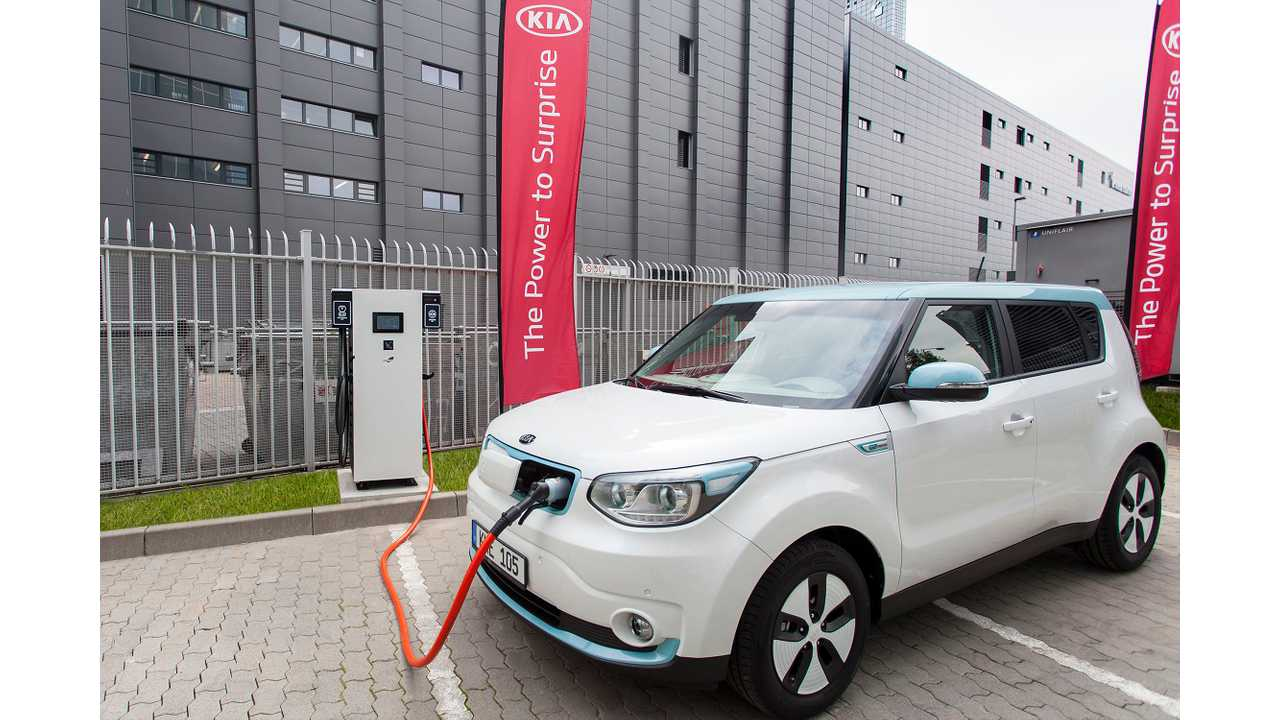 Meanwhile, over in Europe Kia is installing ABB multi-standard fast chargers capable of 100 kW.