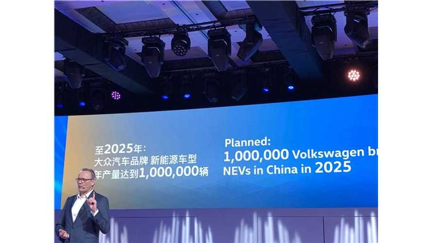 VW Plans To Build 1 Million Electric Cars In China Yearly By 2025