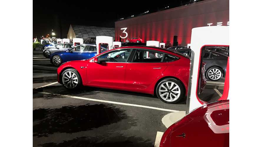 Tesla Model 3 Gets 80.5 kWh Battery, 258 HP, According To EPA Document