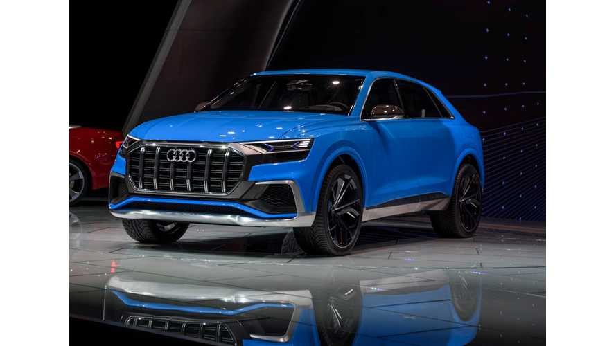 Audi Q8 Suv Plug In Hybrid Debuts With 37 Miles Range Arrives 2018 Videos
