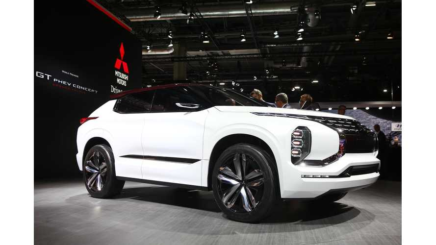 Mitsubishi GT PHEV Concept: 25 kWh battery, 3 Electric Motors