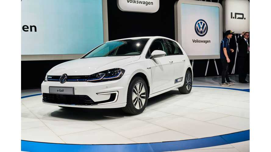 2017 Volkswagen e-Golf Live Debut From The Los Angeles Auto Show - Videos, Galley