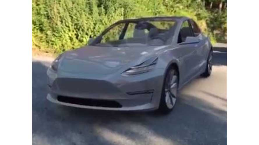 Tesla Model 3 Fan Puts Car In His Driveway Before Deliveries Even Begin